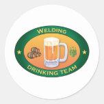 Schweißendes trinkendes Team Stickers