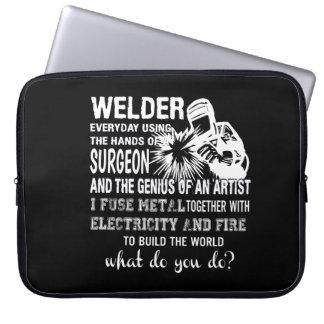 Schweißer, der Handchirurg-Genie-Künstler Laptop Sleeve