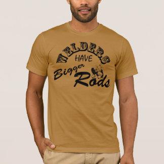 Schweißer haben größeren Stangen T - Shirt