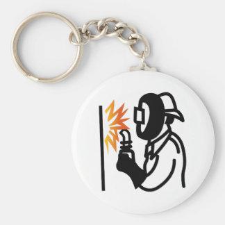 Schweißer-Kontur Schlüsselanhänger