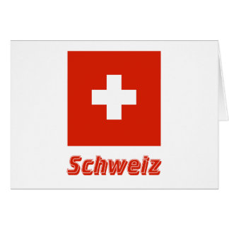 Schweiz Flagge MIT Namen Karte