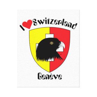 Schweiz  Suisse  Switzerland Genève Leinwanddruck