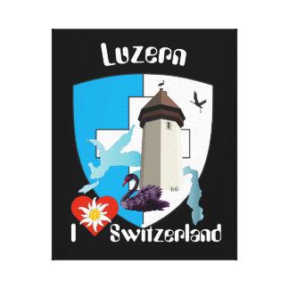 Schweiz  Suisse  Switzerland Luzern Leinwanddruck