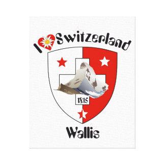 Schweiz  Suisse  Switzerland Wallis Leinwanddruck