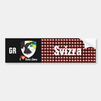 Schweiz Svizzera Svizra Graubünden Autoaufkleber