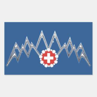 Schweizer Alpen-Aufkleber Rechteckiger Aufkleber