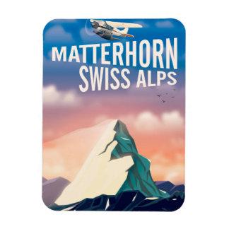 Schweizer Alpen-Matterhorn-Reiseplakat Magnet