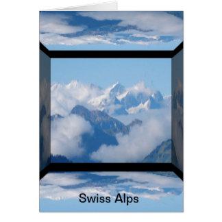 Schweizer Alpen mit Wolken durch Celeste Sheffey Karte
