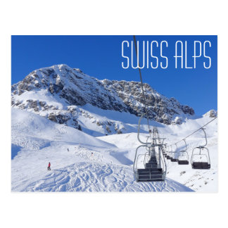 Schweizer Alpen, Postkarte durch Nagel ohne Kopf
