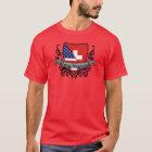 Schweizer-Amerikanische Schild-Flagge T-Shirt