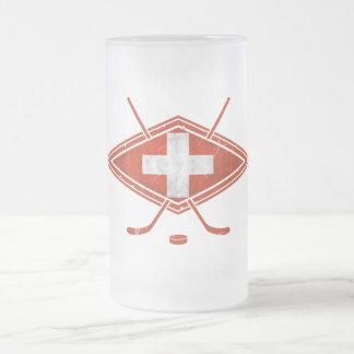 Schweizer Eis-Hockey-Flagge Kaffeetasse