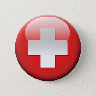 Schweizer Flagge 2,0 Runder Button 5,1 Cm