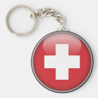 Schweizer Flagge - Flagge von der Schweiz Schlüsselanhänger