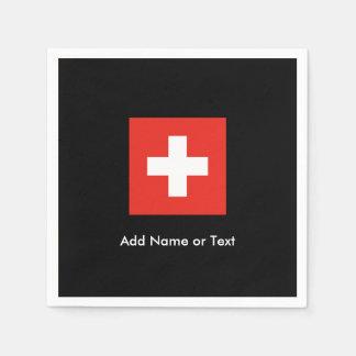 Schweizer Flagge Papierservietten