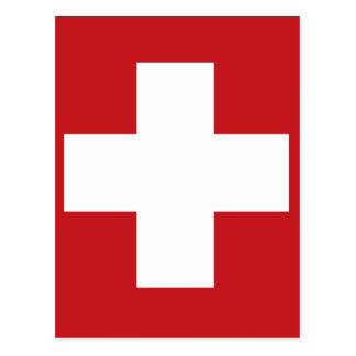 Schweizer Flagge Postkarte
