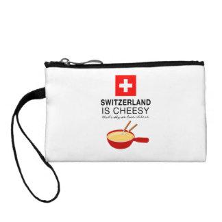 Schweizer Fondue lustig Kleingeldbörse