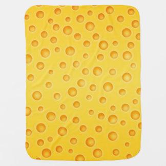 Schweizer Käse Cheezy Beschaffenheits-Muster Babydecke