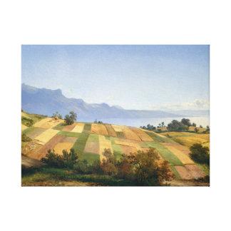Schweizer Landschaft Leinwanddruck