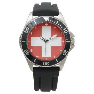 Schweizer Luftwaffe Roundel kundenspezifische Uhr