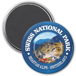 Schweizer Nationalpark Runder Magnet 7,6 Cm
