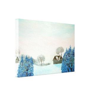 Schweizer Opus-Blau-Weihnachten Leinwanddruck