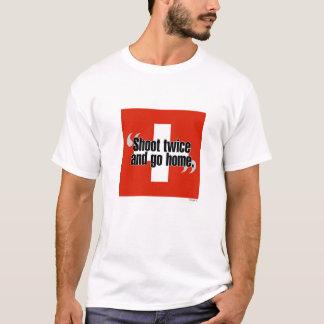"""Schweizer""""schießen Sie zweimal und gehen Sie T-Shirt"""