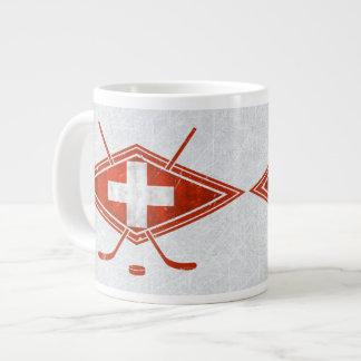 Schweizer Schweiz Eis-Hockey-Flaggen-Tasse Jumbo-Tassen