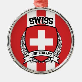 Schweizer Silbernes Ornament