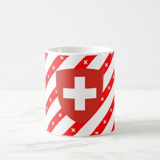 Schweizer stripes Flagge Kaffeetasse