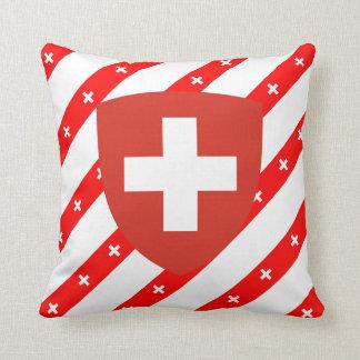 Schweizer stripes Flagge Kissen