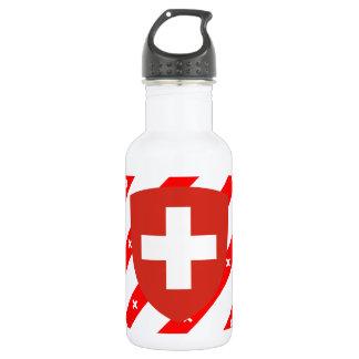 Schweizer stripes Flagge Trinkflasche