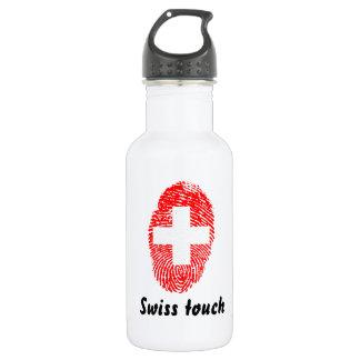 Schweizer Touchfingerabdruckflagge Edelstahlflasche