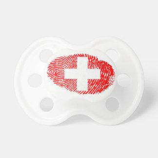 Schweizer Touchfingerabdruckflagge Schnuller