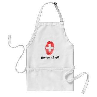 Schweizer Touchfingerabdruckflagge Schürze