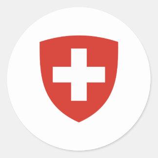 Schweizer Wappen Schild Runder Aufkleber