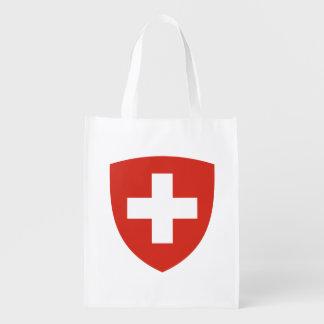 Schweizer Wappen Schild Wiederverwendbare Einkaufstasche