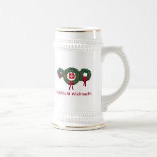 Schweizer Weihnachten 2 Bierglas