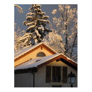 Schweizer Winter Postkarte