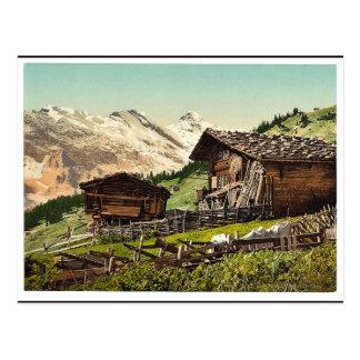 Schweizer Wohnung, Murren, Bernese Oberland, Postkarte