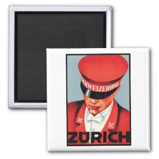 Schweizerhof Zürich Quadratischer Magnet