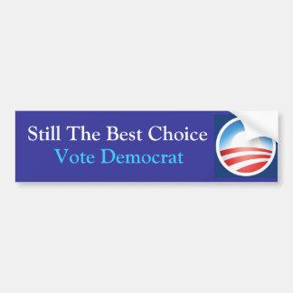 Schwelle die beste Wahl: Obama: Blau Autoaufkleber