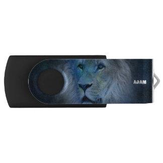 Schwenker-Blitz-Antrieb Monogramm-Löwe-König-USB USB Stick