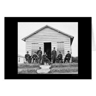 Schwere Artillerie-Offiziere am Fort Totten, DC Karte