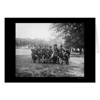 Schwere Artillerie-Offiziere bei Fort Monroe, VA Karte