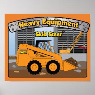 Schweres Ausrüstungs-Gleiter-Ochsebabyplakat Poster