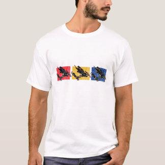 Schwerkraft-SCHLITTEN-IN-DREI-Farbe T-Shirt