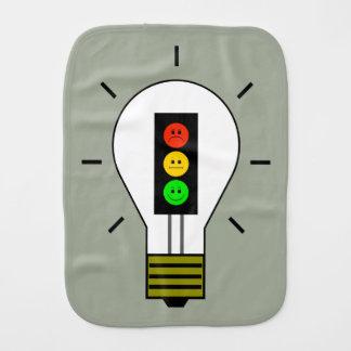 Schwermütige Stoplight-Glühlampe Baby Spucktuch