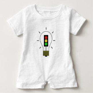 Schwermütige Stoplight-Glühlampe Baby Strampler