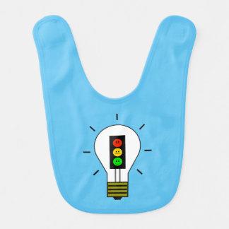 Schwermütige Stoplight-Glühlampe Babylätzchen
