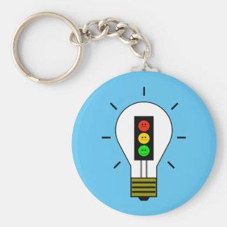 Schwermütige Stoplight-Glühlampe Schlüsselanhänger